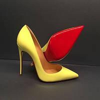 Жёлтые туфли-лодочки Christian Louboutin , кожа! ЛЮКС копия!