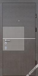 Входная дверь Страж standart-plus Квадро венге горизонт/венге серый горизонтальный + Al