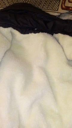 Костюм мужской зимний на синтепоне и овчине черный, фото 2