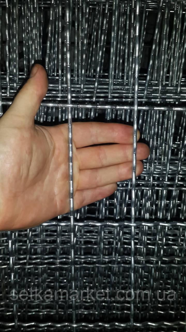 Канилированная, Ячейка 60х100 мм, Проволока 4 мм. Оцинкованная