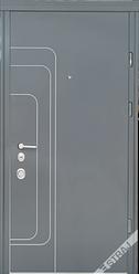 Входная дверь Страж standart-plus Трэк антрацит + Al молдинги снаружи/ белое дерево внутри