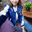 "Куртка бомбер ""Кактус"" синяя, фото 6"
