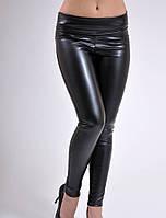 Лосины - брюки кожаные утепленные на флисе