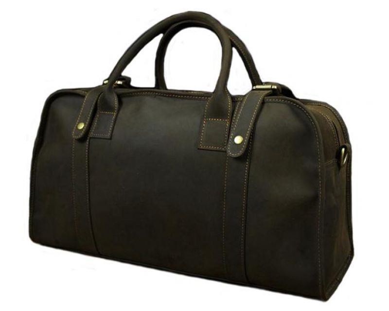Кожаная сумка саквояж BEXHILL BX1036 коричневая