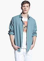 Мужская тестурная рубашка Slim Fit от Mango