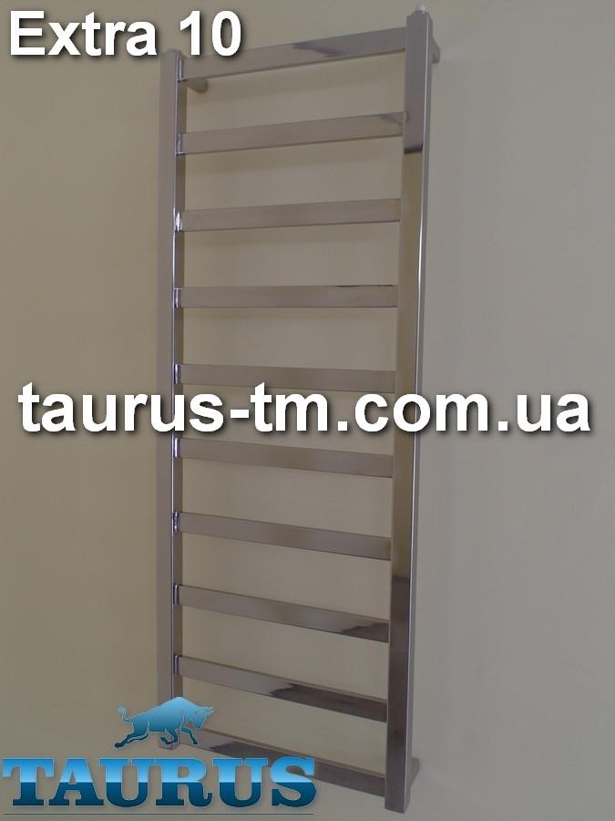 Нержавеющий полотенцесушитель Extra 10/500 мм.- новинка из квадратной и прямоугольной трубы от TAURUS (Смела).