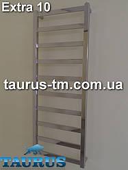Нержавеющий полотенцесушитель Extra 10/500 мм.- стильный из квадратной и прямоугольной трубы от TAURUS (Смела)