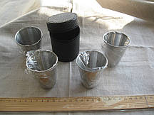 Набор дорожных стаканчиков в чехле 4 шт. 70 мл.