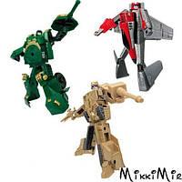 Игровой набор - Робот-Трансформер (15 см), танк (зеленый), самолет, танк (бежевый), X-BOT