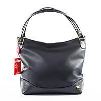Шоппер женский черный, сумка мешок с ручками