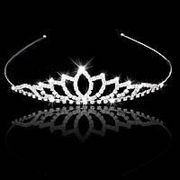 Тиара диадема свадебная с кристаллами Принцесса
