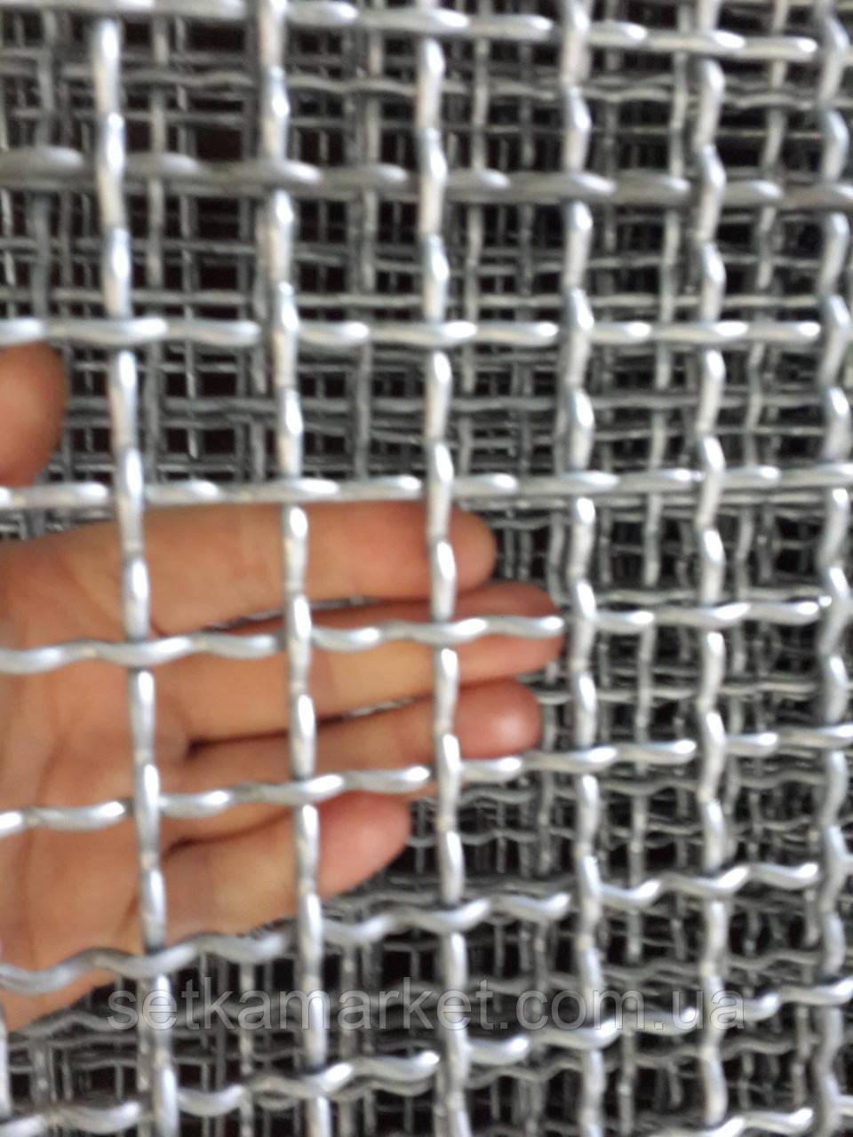 Сетка Канилированная, Ячейка 25х55 мм, Проволока 4 мм. Чёрная