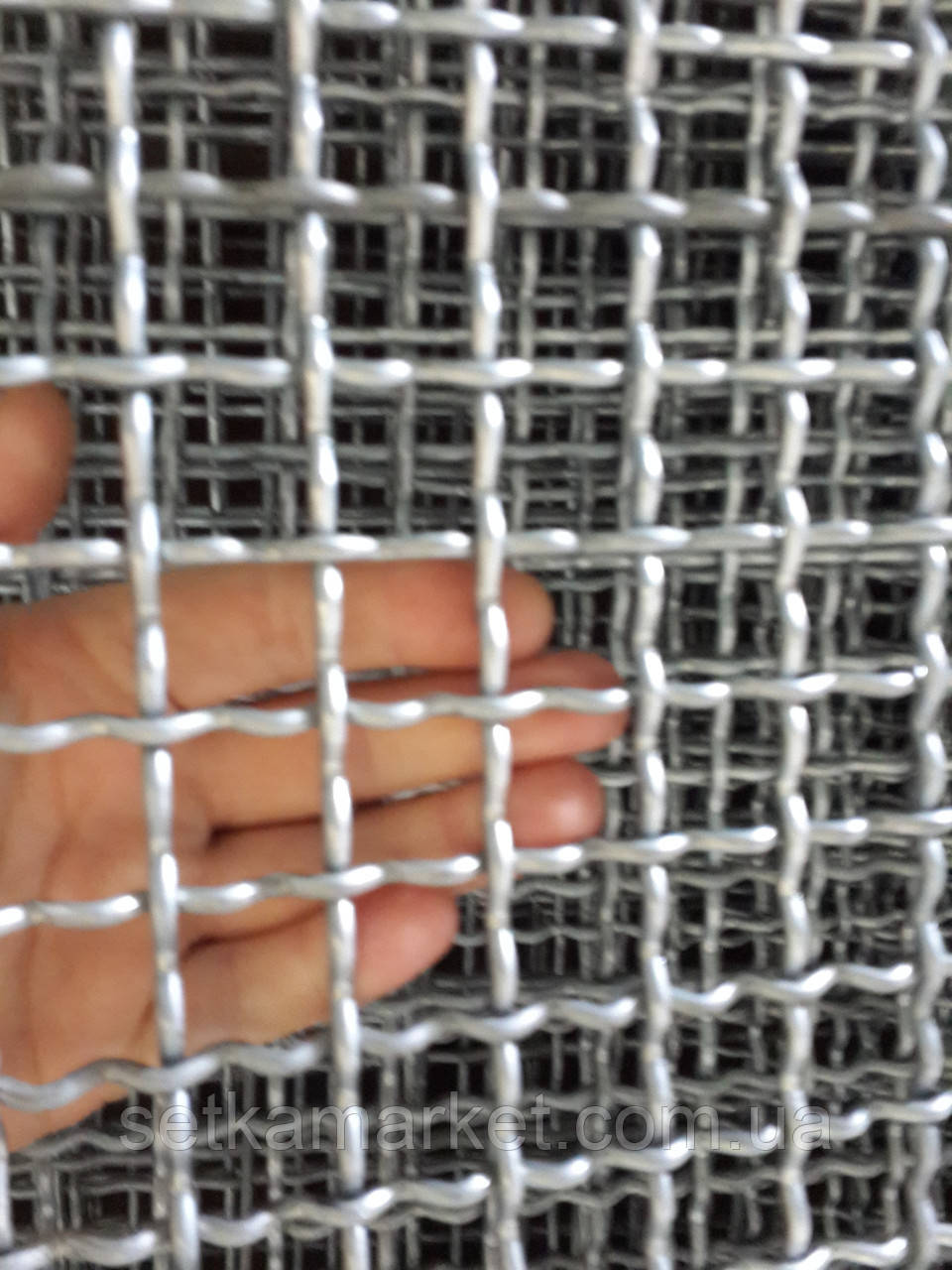 Сетка Канилированная, Ячейка 90х90 мм, Проволока 5 мм. Чёрная