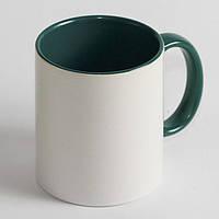 Чашка зеленая