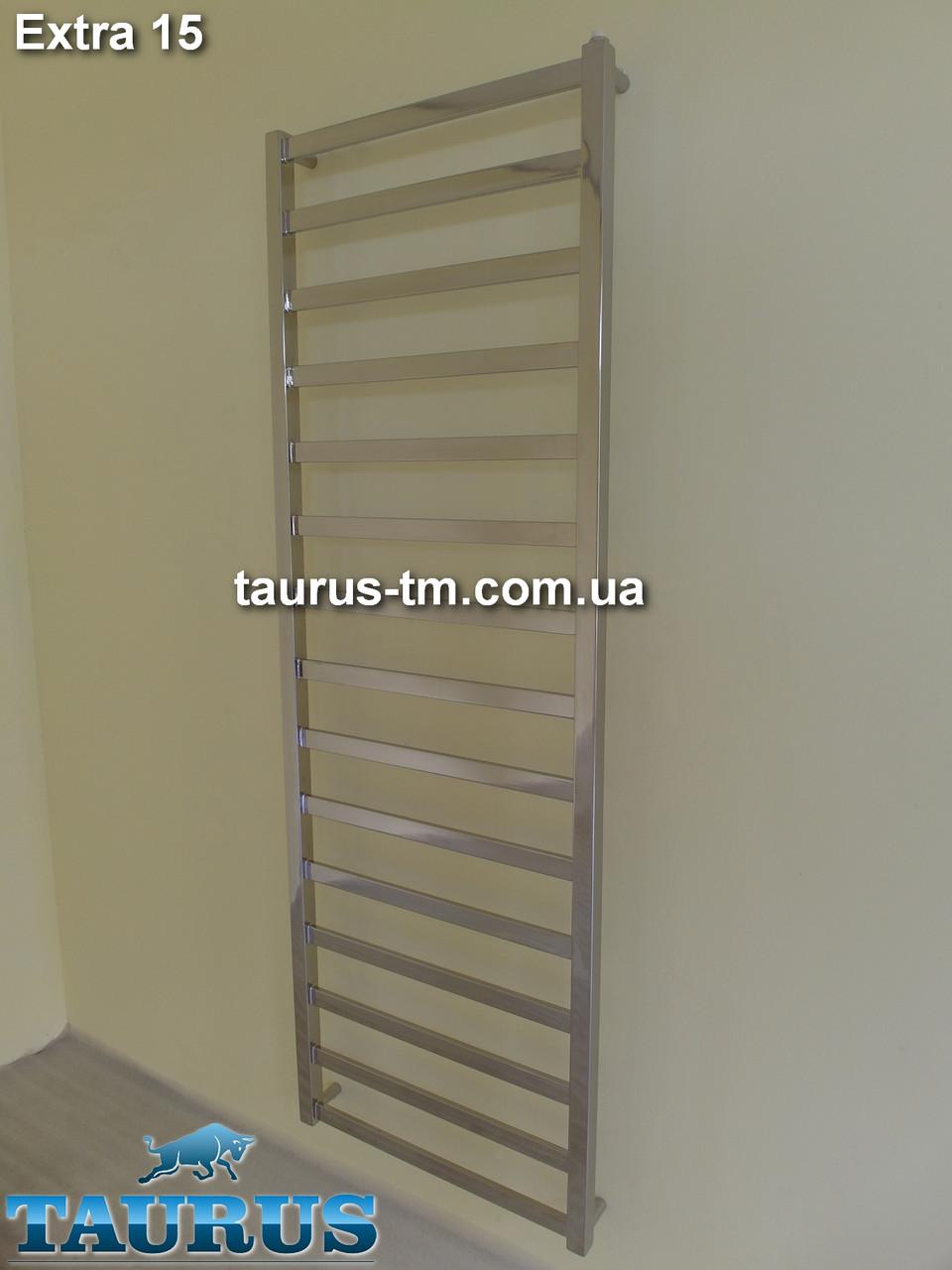 Узкая сушилка для полотенец Extra 15 /400мм. Высокая 1550мм. Квадратная форма труб