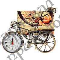 Фоторамка с часами Велосипед