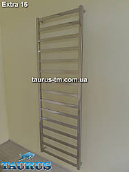 Громадный нержавеющий полотенцесушитель Extra 15/500мм. из квадратной трубы в большую ванную комнату