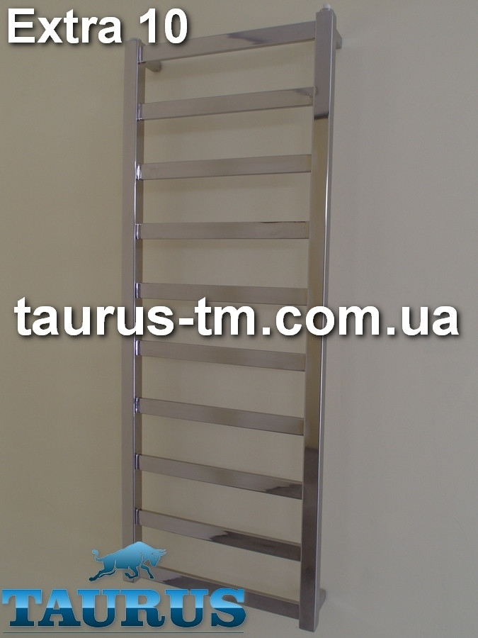 Современный плоский нержавеющий полотенцесушитель Extra 10 /1050х450 от украинского производителя TAURUS Смела
