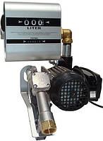Насос DRUM TECH, 220В, 60 л/мин со счетчиком для дизельного топлива (дизеля, ДТ) для бочки КИЕВ