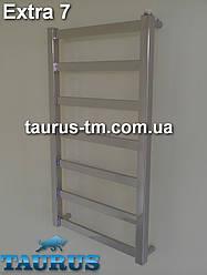 Нержавеющий полотенцесушитель Extra 7 / 750x500 мм. Комби, водяной, электро. Современный дизайн