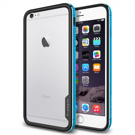 Бампер Spigen для iPhone 6S Plus/6 Plus Neo Hybrid EX, Metal Blue, фото 1