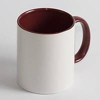 Чашка бордовая