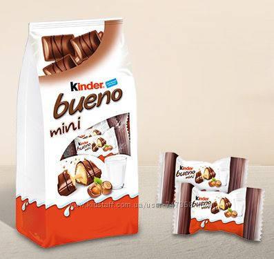 Вафельные батончики Kinder Bueno Mini c молочно-фундуковой начикой 108g, фото 2