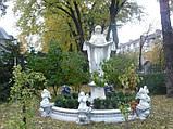 Ритуальная скульптура в Украине. Большая статуя Покрова №6 высота 220 см из бетона, фото 5