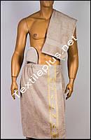 Набор для сауны мужской светло серый Merzuka