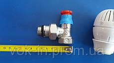 Комплект подключения радиатора Giacomini угловой с термоголовкой 1/2, фото 3