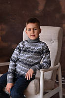 Свитер-гольф Many&Many для мальчика серый, Ромбики