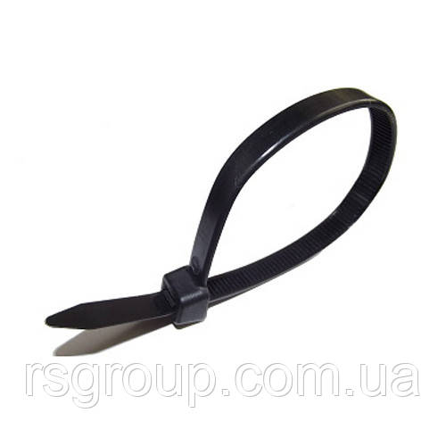 2.5x200 Кабельна стяжка UNIFIX nylon cable tie чорна і біла (хомут) (100шт.)
