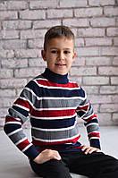 Свитер Many&Many для мальчика, разноцветные полосы.