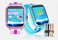 Детские умные часы- телефон с GPS трекером и математической развивающей игрой Q100s (оригинал)