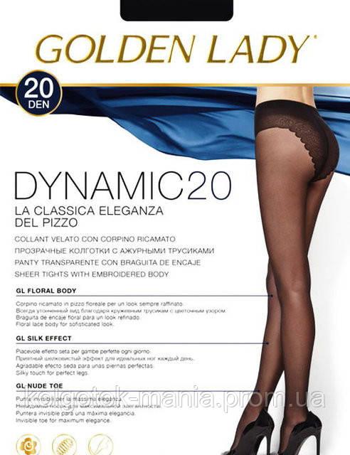 Колготки Golden Lady Dynamic 20 с ажурными трусиками