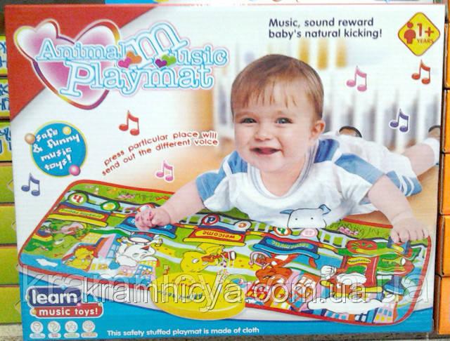 """Музыкальный развивающий коврик """"Animal musical playmat"""", 1+, (LX-6011A)"""