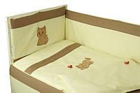 """Детский постельный набор в кроватку 120х60см 4 предмета Рыжик с вышивкой ТМ """"РУНО"""""""