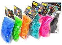 Резинки для плетения браслетов 200шт. с крючками для соединения