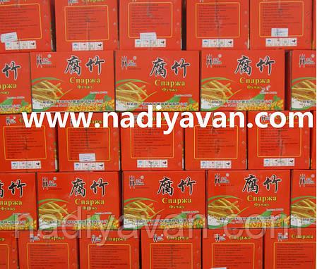 Фучжу соевая спаржа порционно 500г ящик 9кг, фото 2