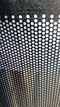 Перфорований Лист (Полотно решетное), чорний метал, товщина: 0.55, клітинка 1.2х20; мм.