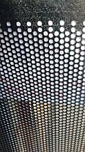 Перфорований Лист (Полотно решетное), чорний метал, товщина 0.8, клітинка 3.0х20 мм.
