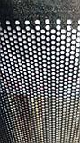 Перфорований Лист (Полотно решетное), чорний метал, товщина 1.0, осередок 8х8 мм (крок 24 мм), фото 2