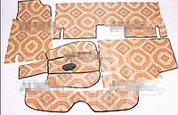 Ковер салона пола ВАЗ 2101, 2102, 2103, 2104, 2105, 2106, 2107, 2121 Нива, 2108, 2109, 21099 линолеум к-т 5 шт