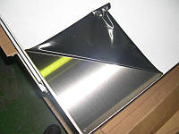 Лист нержавеющий AISI 304  0,5 мм 4N+PVC (1х2 м)