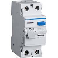 Дифавтомат Hager AD960J 10А 30 мA 6 кА 2 полюса уставка C тип A