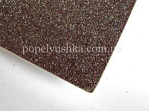 Фоам 2 мм 20*30 см на клейовій основі з глітером чорний