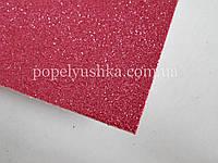 Фоам 1 мм 20*30 см на клейовій основі з глітером рожевий