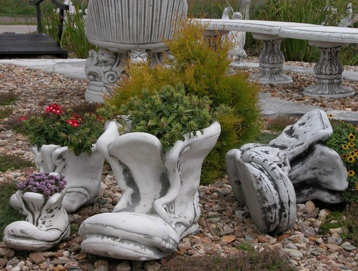 Вазон садовый для цветов «Башмак» маленький