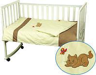 Комплект постельного белья в детскую кроватку  Рыжик