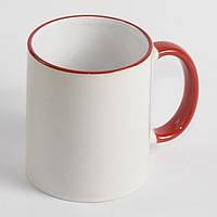 Чашка с красной каймой